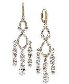 Danori Crystal & Stone Chandelier Earrings, Created for Macy's