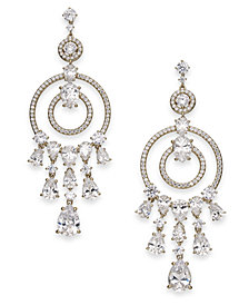 Danori Silver-Tone Crystal Circle Chandelier Earrings, Created for Macy's
