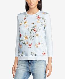 Lauren Ralph Lauren Floral-Print Sweater