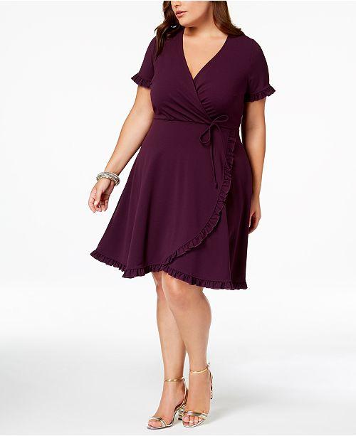 2b04e81e8b1 Love Squared Trendy Plus Size Faux-Wrap Dress - Dresses - Plus Sizes ...