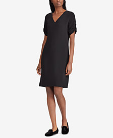 Lauren Ralph Lauren Roll-Tab Shift Dress