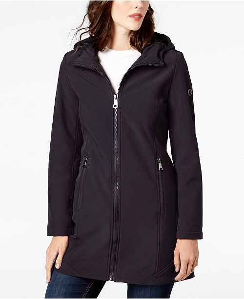 Calvin Klein Hooded Stretch Raincoat