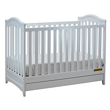 Jeanie 3-in-1 Crib, White