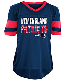 5th & Ocean New England Patriots Foil Football Jersey, Girls (4-16)