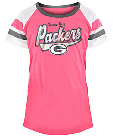 5th & Ocean Green Bay Packers Pink Foil T-Shirt, Girls (4-16)