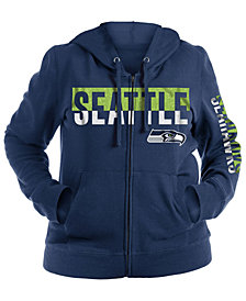5th & Ocean Women's Seattle Seahawks Plus Glitter Block Hoodie