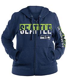 5th & Ocean Women's Seattle Seahawks Plus Glitter Block Hoodie