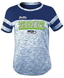 5th & Ocean Seattle Seahawks Space Dye Glitter T-Shirt, Girls (4-16)
