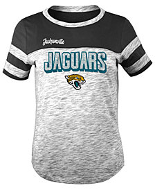 5th & Ocean Jacksonville Jaguars Space Dye Glitter T-Shirt, Girls (4-16)
