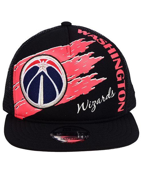 5010260cd33 New Era Washington Wizards Swipe Trucker 9FIFTY Snapback Cap ...