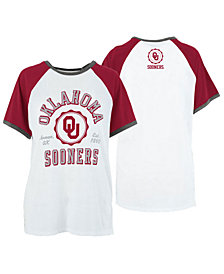 Royce Apparel Inc Women's Oklahoma Sooners Short Sleeve Raglan T-Shirt