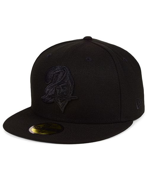 New Era Tampa Bay Buccaneers Black on Black 59FIFTY FITTED Cap