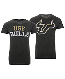 Retro Brand Men's South Florida Bulls Team Stacked Dual Blend T-Shirt