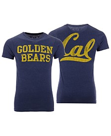Retro Brand Men's California Golden Bears Team Stacked Dual Blend T-Shirt
