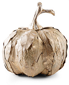 CLOSEOUT! Home Essentials Natural-Leaf Pumpkin Decor