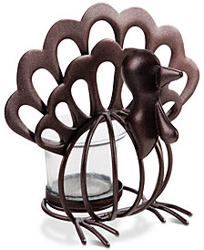 CLOSEOUT! Home Essentials Metal Turkey Tea Light Holder