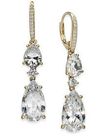 Danori Crystal Double Drop Earrings, Created for Macy's