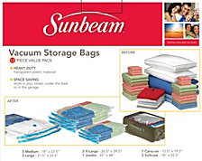 12-Pc. Plastic Vacuum Bags
