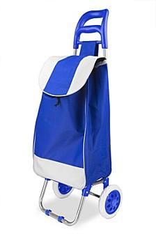Home Basics Rolling Shopping Cart, Blue