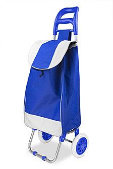 Rolling Shopping Cart, Blue