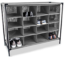Sunbeam 16 Pair Non-Woven Shoe Rack