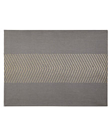 Hotel Collection Grey Placemat with Gold