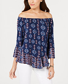 Style & Co Petite Off-The-Shoulder Top, Created for Macy's