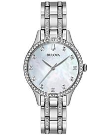 Women's Stainless Steel Bracelet Watch 32mm Gift Set