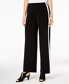 Alfani Varsity Stripe Wide-Leg Pants, Created for Macy's