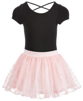 Little Girls Cross-Back Dance Leotard, Created for Macy's