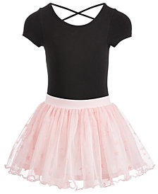 Ideology Toddler Girls Solid Dance Leotard & Star Skirt, Created for Macy's