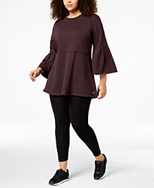 Calvin Klein Performance Plus Size Bell-Sleeve Tunic