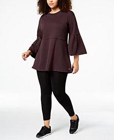 Calvin Klein Performance Plus Size Bell-Sleeve Tunic