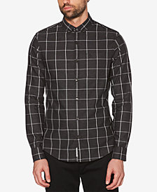 Original Penguin Men's Jasper Windowpane Plaid Shirt
