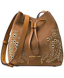 MICHAEL Michael Kors Cary Embellished Bucket Crossbody