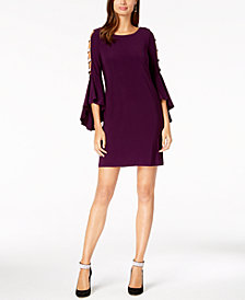 MSK Embellished Bell-Sleeve Dress