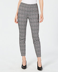 Maison Jules Menswear Plaid Ankle Pants, Created for Macy's