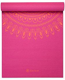 Gaiam Premium Printed 5mm Yoga Mat