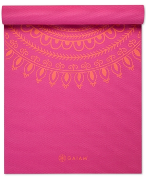 Gaiam Premium Printed 5mm Yoga Mat
