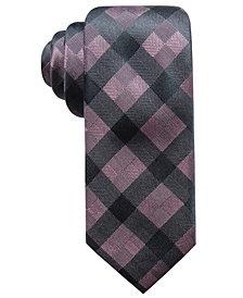 Ryan Seacrest Distinction™ Men's Monte Check Slim Silk Tie, Created for Macy's