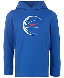Nike Little Boys Dri-FIT Baseball Graphic Pullover Hoodie
