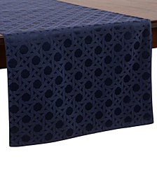 "kate spade new york Café Caning  15"" x 72"" French Navy Table Runner"