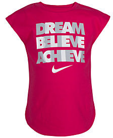 Nike Little Girls Dream-Print T-Shirt