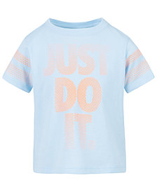 Nike Little Girls Just Do It-Print Cotton T-Shirt