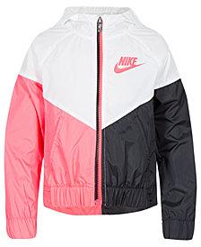 Nike Little Girls Colorblocked Hooded Sportswear Windrunner Jacket