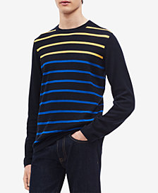Calvin Klein Men's Colorblocked Stripe Sweater