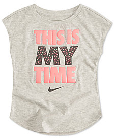 Nike Little Girls This is My Time Graphic T-Shirt