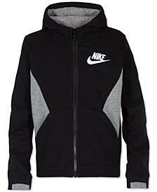 Nike Little Boys Contrast-Panel Zip-Up Hoodie