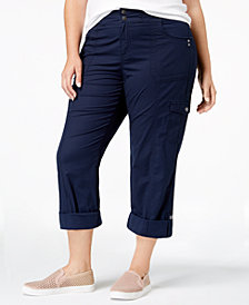 Style & Co Plus Size Convertible Cargo Pants, Created for Macy's