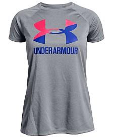 Under Armour Big Girls Logo Solid T-Shirt